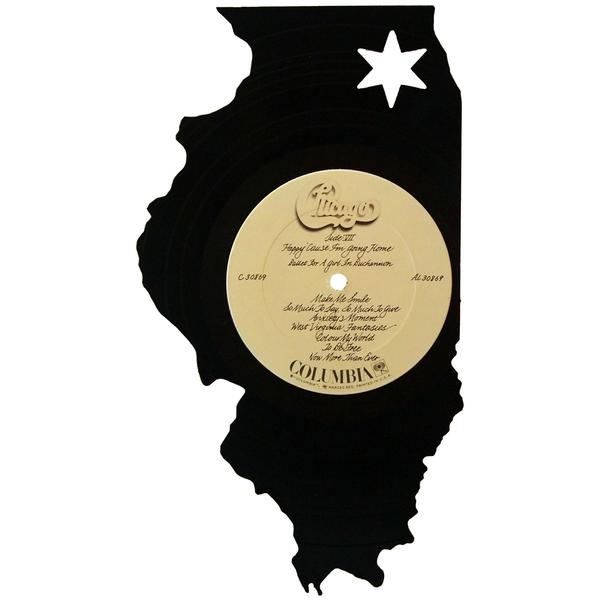 600x600 Reo Speedwagon Vinyl Records.illinois Silhouette Vinyl Record Art