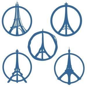 300x300 Eiffel Tower Paris France Peace Sign Svg Cuttable Designs Works