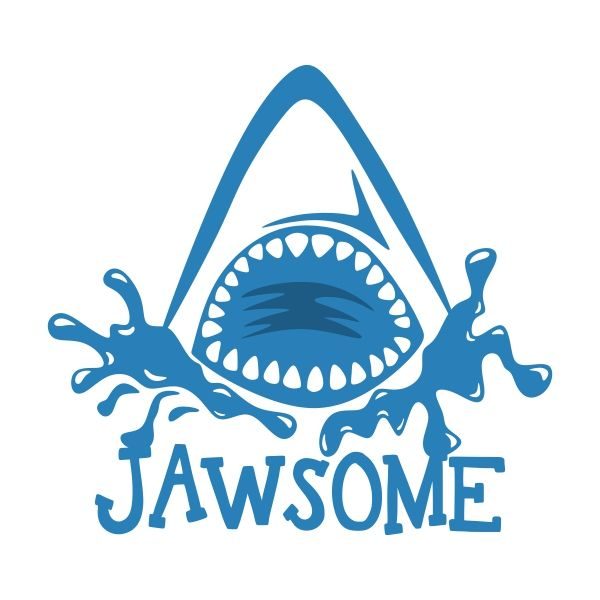 600x600 Totally Jawsome Shark Jaw Svg Cuttable Design Cut File. Vector