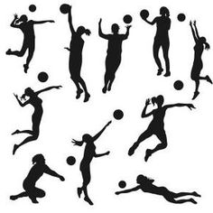 236x236 Volleyball Silhouettes Volleyball, Adobe Illustrator And Adobe