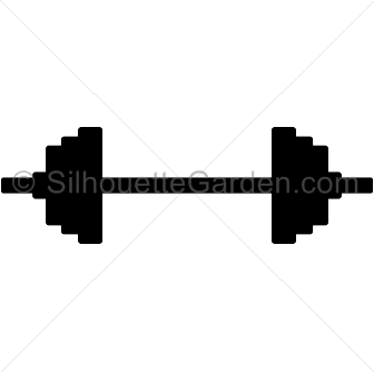 336x334 Barbell Clipart