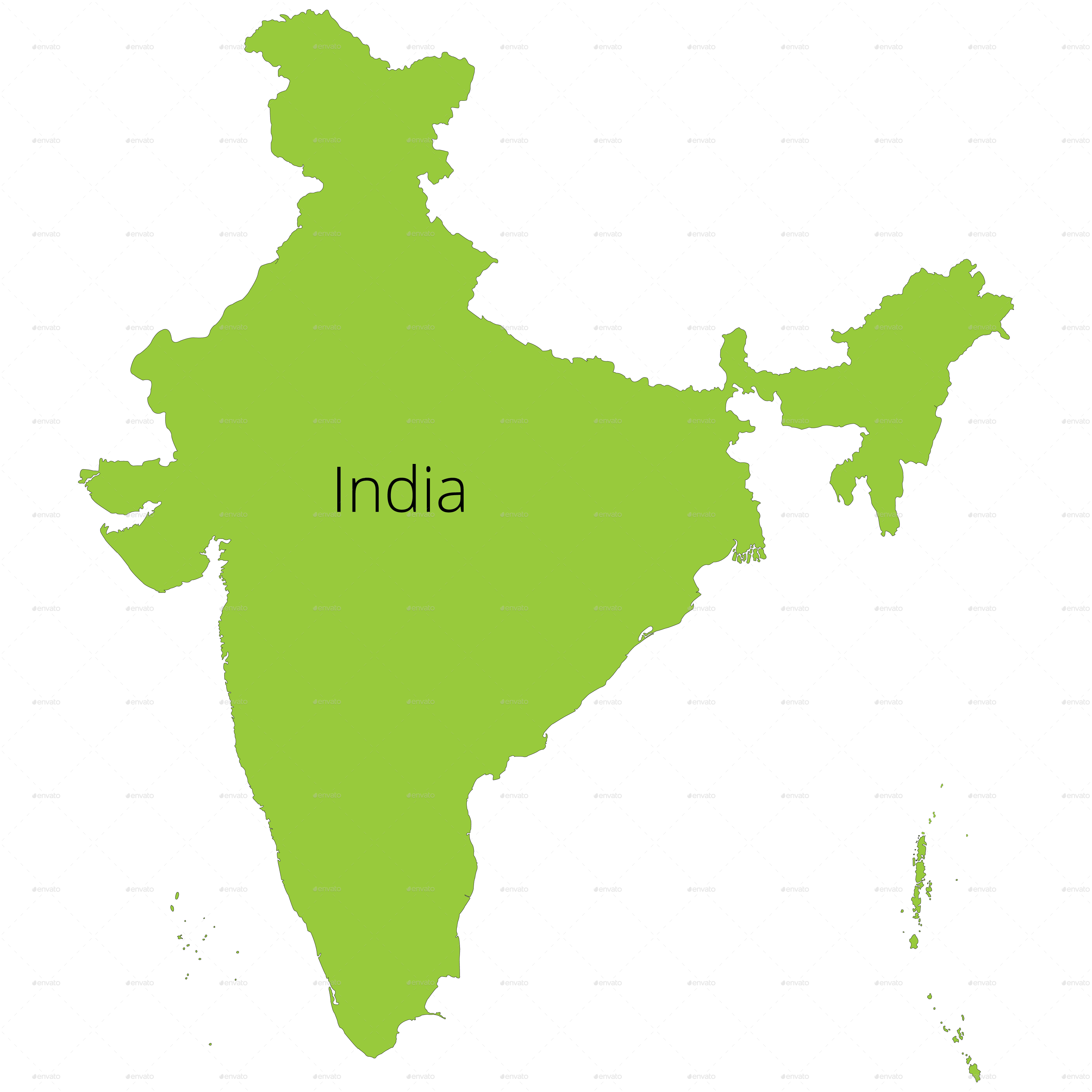 India Map Silhouette At GetDrawings