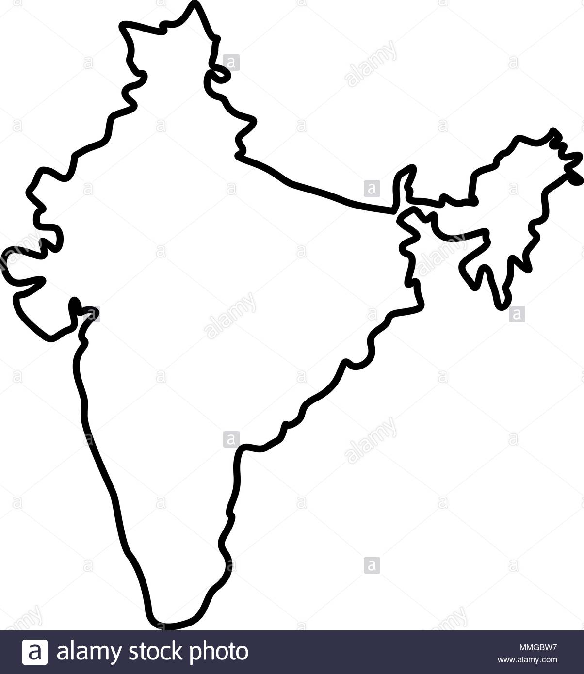 1204x1390 Indian Map Cut Out Stock Images Amp Pictures