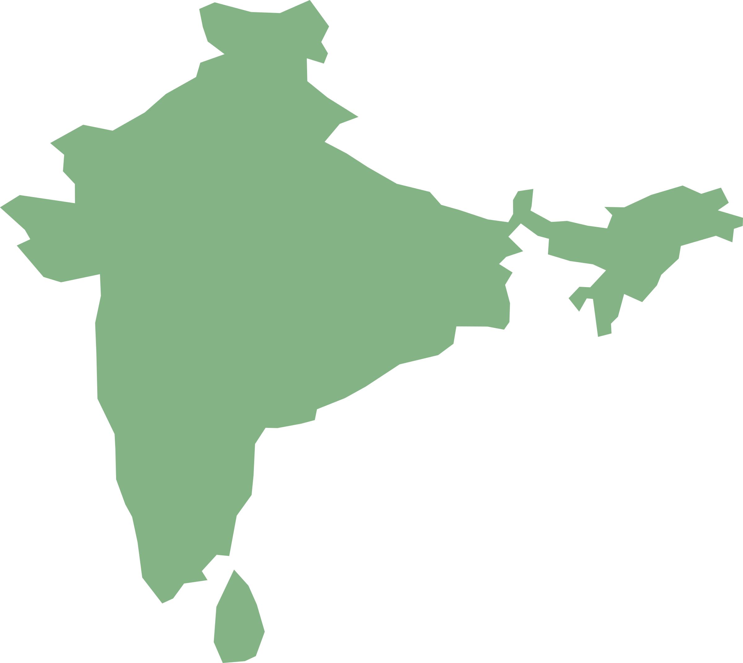 2400x2143 Map Of India Clipart