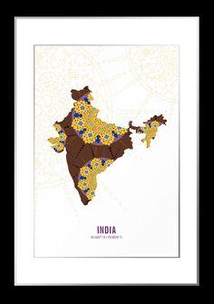 236x335 Hatcher Amp Ethan India 1892 Map Canvas Art