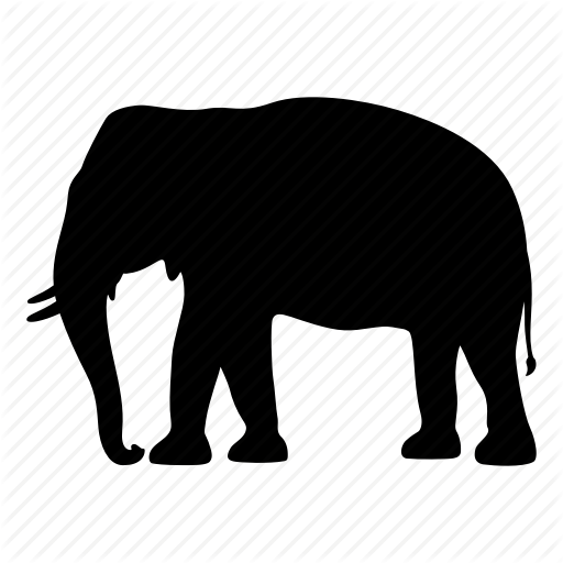 512x512 Africa, Animal, Elephant, India, Safari, Silhouette, Wild Icon