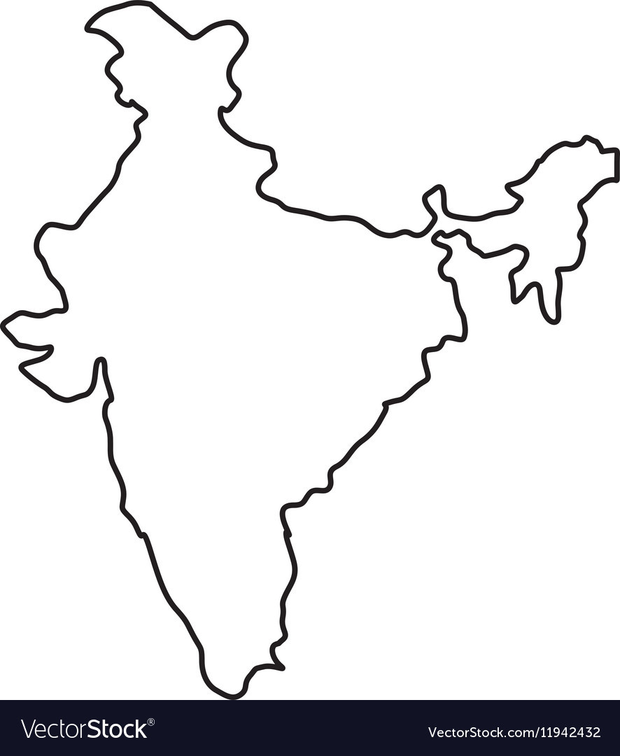 886x1080 India Map Silhouette Royalty Free Vector Image With Transitionsfv