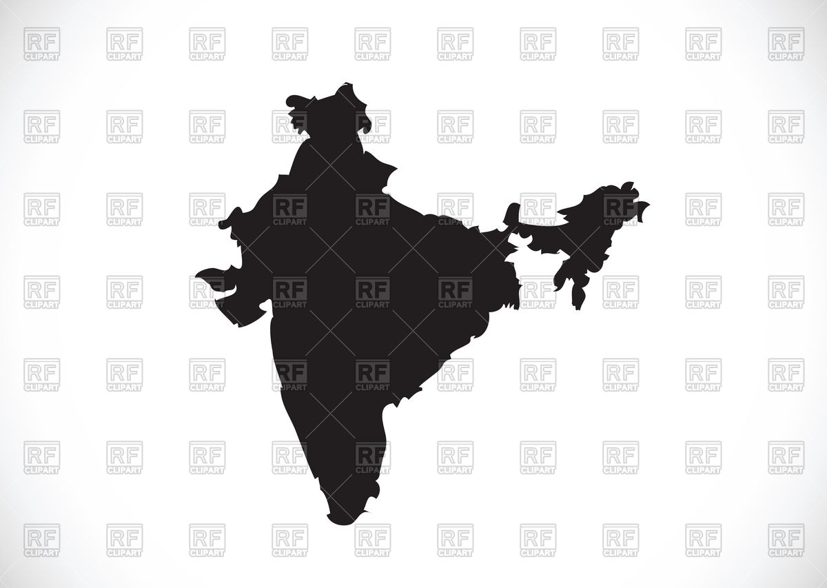 1200x853 India Map Silhouette Royalty Free Vector Clip Art Image