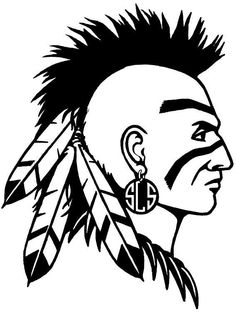 236x312 Blue Indian Chief Head Logo Apache Stock Photos, Illustrations