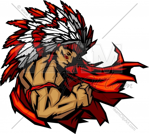 590x533 Indian Chief Mascot Clipart