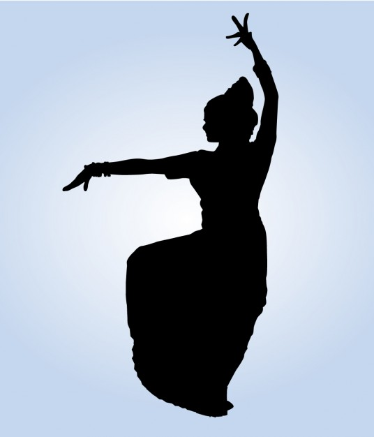 536x626 Indian Dacer Posing Silhouette Vector Free Download
