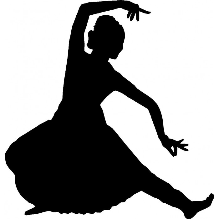 700x700 Indian Dance Clipart Black And White