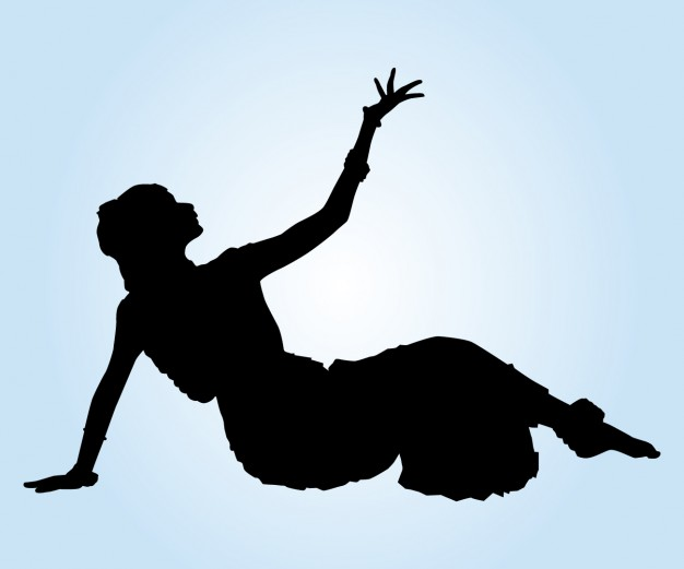 626x521 Indian Dancer On The Floor Silhouette Vector Free Download