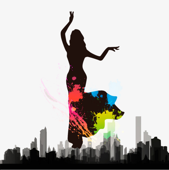 650x652 Indian Dancer Over The City, Dance, Dancing, Indian Dance Png