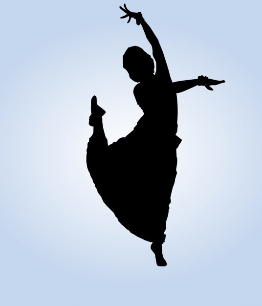 536x626 Indian Dancer Posing Vector Free Download