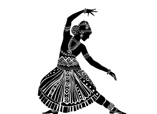 512x373 Indian Dancing Silhouette