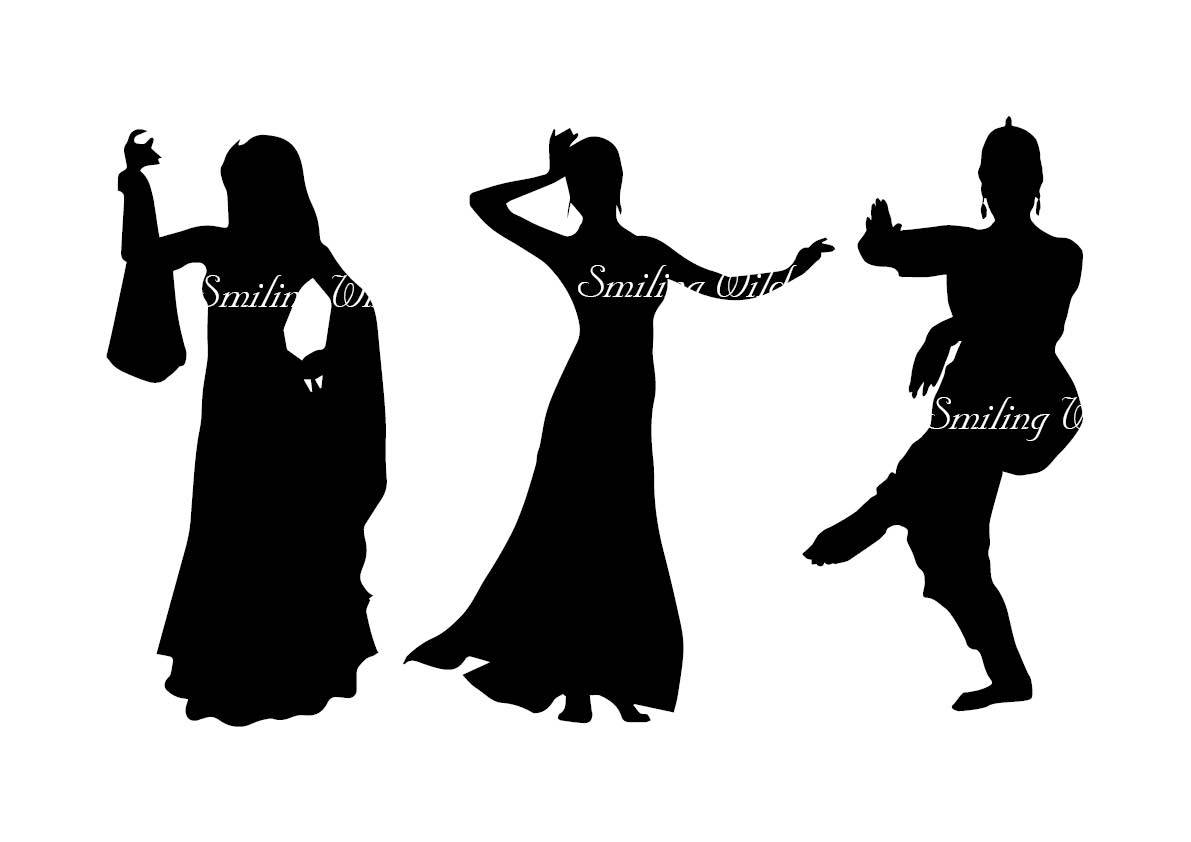 1191x842 Vector Art Oriental Dance Svg Indian Dance Silhouette Dancer