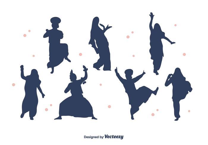 700x490 Bhangra Dancers Silhouette Vector