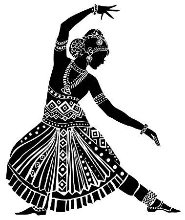 379x450 Buy Wallskin Vinyl Indian Dancing Silhouette Wall Sticker (127 Cm