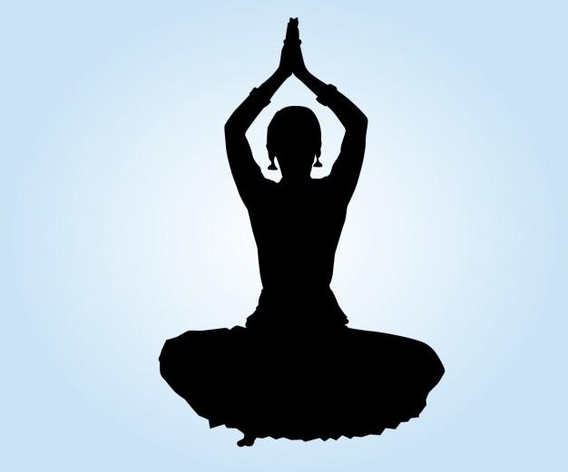 626x521 Indian Dancer Lotus Position Vector Free Download