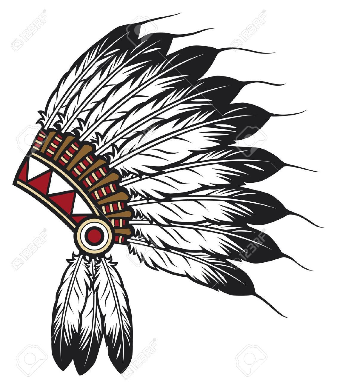 1129x1300 Indian Headdress Clipart Painting Tattoo