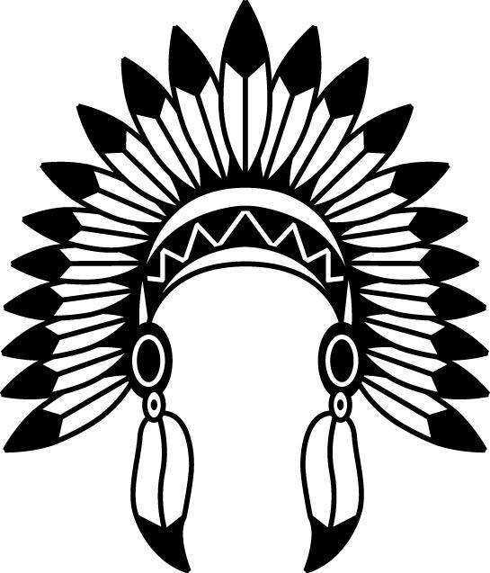 545x637 Indian Headdress Svg Indian Headdress Vector Indian