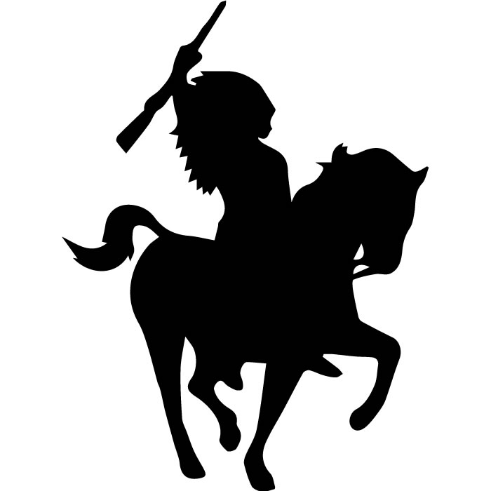 700x700 Indian On Horse Wall Sticker Cowboys Wall Decal Kids Bedroom Home