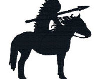 340x270 Indian On Horse Etsy