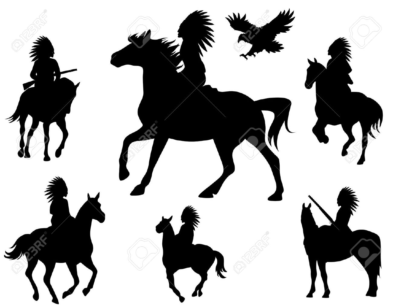 1300x1019 Native American Horse Clipart