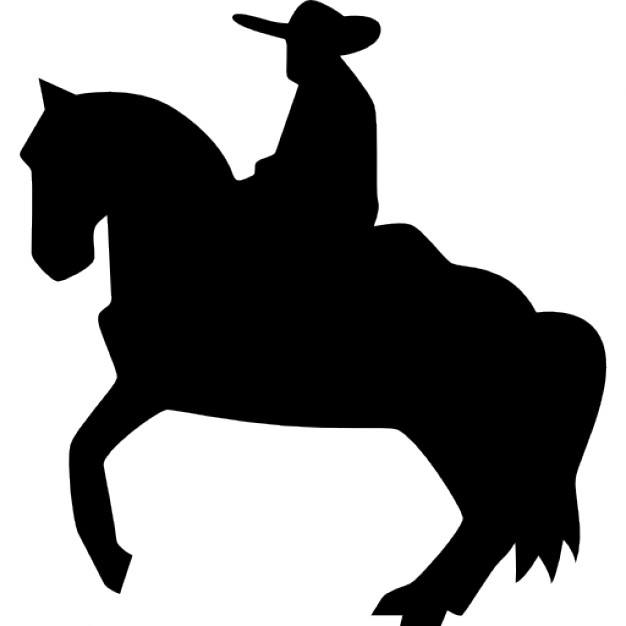 626x626 Man On Horse Silhouette Clipart