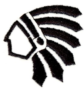 277x300 Indian Chief Silhouette Embroidery Designs, Machine Embroidery