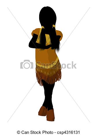 337x470 Native American Indian Art Illustration Silhouette. Native
