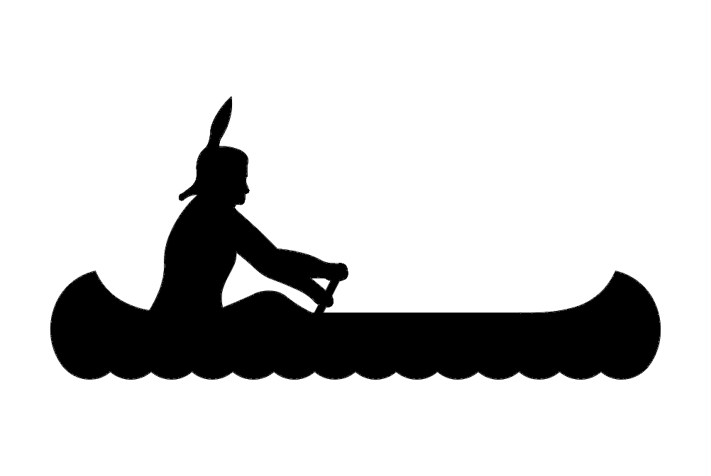 1002x672 Indian Canoe Dxf File Free Download