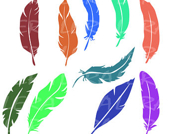 340x270 Feathers Svg Tribal Indian Feather Silhouette Boho Vector