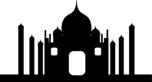 300x163 Taj Mahal Clipart Silhouette