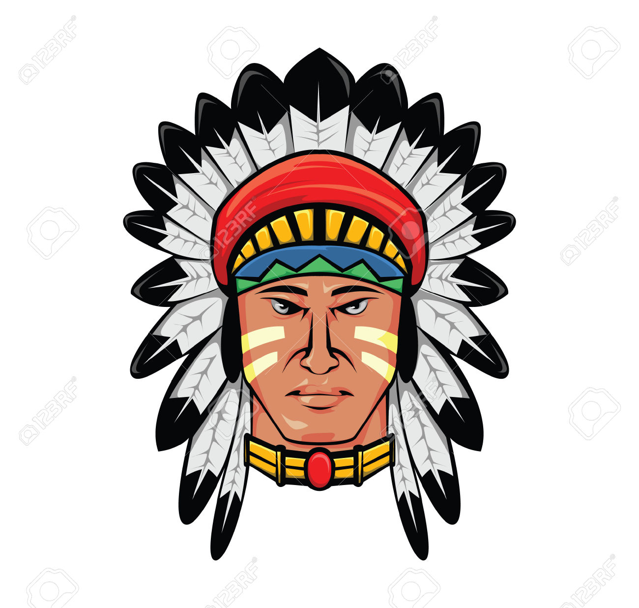 1300x1236 Indian Head Clipart Vector Collection