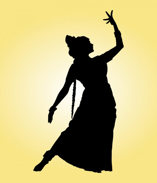 536x626 Indian Dancer Silhouette Vector Free Download