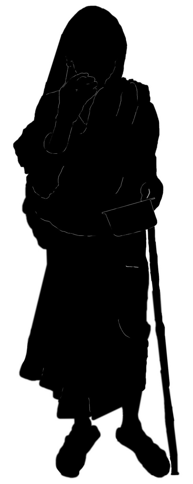 640x1600 Stock Pictures Old Woman Silhouettes