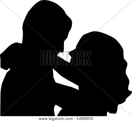 450x416 And Woman Silhouette Vector
