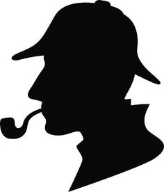 236x276 Sherlock Holmes Silhouette Decal Removable Door Wall Sticker Home