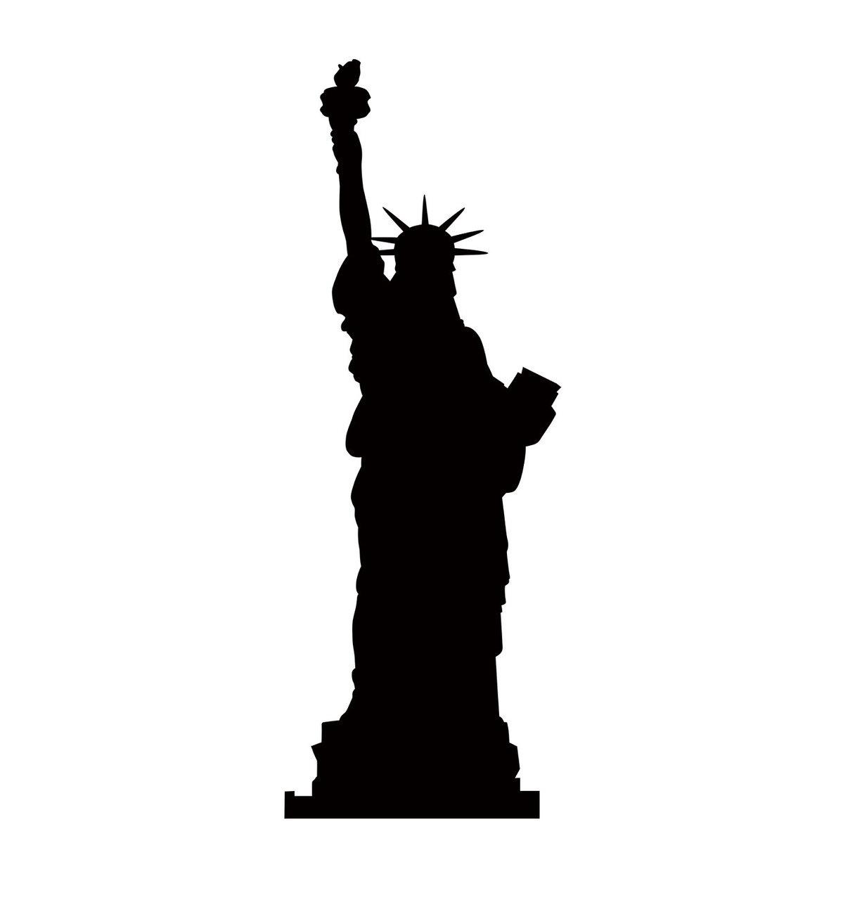 1199x1280 Su 2321 Statue Of Liberty Silhouette Cardboard Cutout Standup