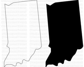340x270 Go Irish Shamrock Indiana State Outline Graphic Go Irish Svg