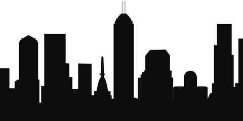 480x240 Indianapolis, Indiana Skyline Silhouette Cityscape Purses
