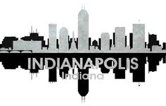 236x152 Indianapolis In 1 City Silhouette Art Silhouette Art