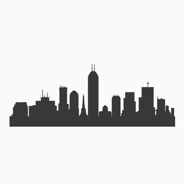 600x600 Indianapolis Indiana Skyline Vinyl Wall Decal Sticker