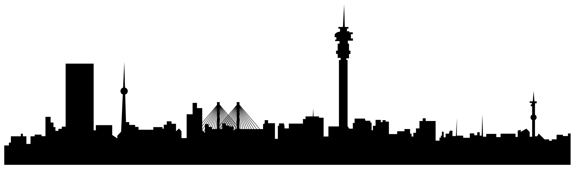 2000x588 Johannesburg Skyline Silhouette