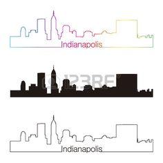 236x236 Indianapolis, Indiana City Skyline Digital Print. 11x17 Poster