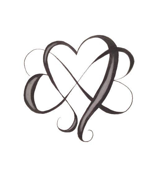 480x545 Infinity Double Heart Vector