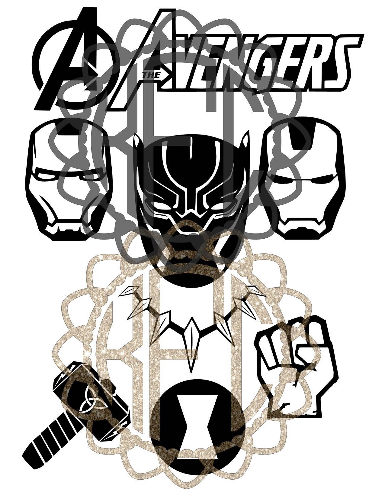 1275x1650 Avengers Black Panther Infinity War Logo Bundle! Great Deal! Eps