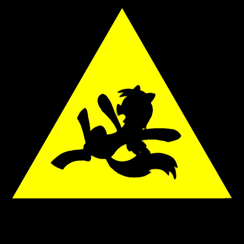 1024x1024 Caution Wet Floor ( Derpy My Little Pony Style) By Infinitydash